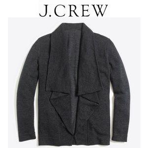 J Crew Open Draped Cardigan Gray Size XL NWT